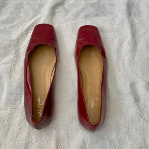 Kate Spade Red latent Leather Ballet Flats Size 8